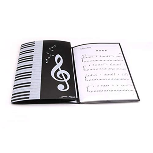 A4 Ordner Musik PräSentationsmappe Anzeige BüCher Klaviermusik Label Drei Sechsfache Expansion Von 30,5 * 23,5 * 1.2Cm