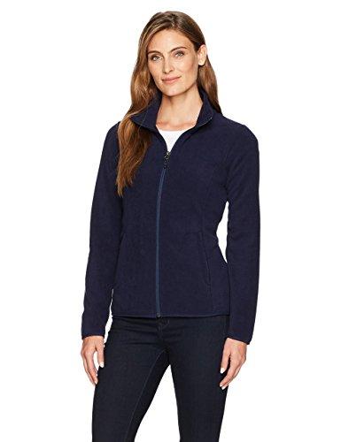 Amazon Essentials Women's Classic Fit Long-Sleeve Full-Zip Polar Soft Fleece Jacket, Night Navy, Medium