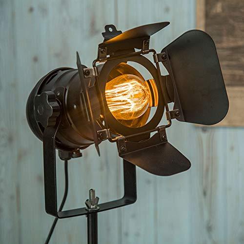 YAS Eking Minimalista Sala de estar Arte Retro Trípode Black Floor Lámpara Museo Hotel Spot Lighting Loft Industrial Floor Lights
