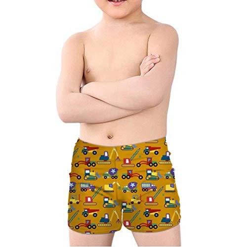 chaqlin Kinder Kleinkind Quick Dry Beach Board Shorts Jungen Badehose Badeanzug für Alter 5–14 Jahre alt Gr. Taille 56/58 cm(5-6 Jahre), Spielzeug Bagger