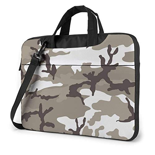 XCNGG Laptop Bag Carrying Laptop Case, Camouflage Blue Computer Sleeve Cover with Handle, Business BriefcaseBag for Ultrabook, MacBook, Sony, Notebook 15.6 inch