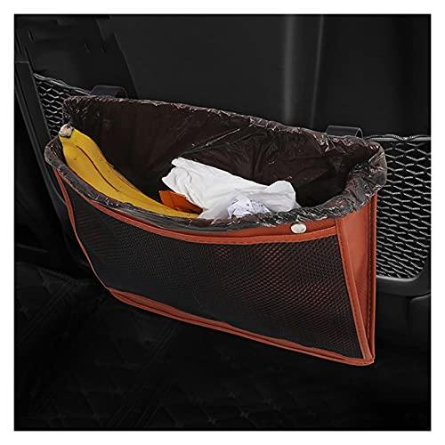 Cubo de Basura para Coche Bote de basura de automóviles Papelera de transmisión portátil colgante de bases basadas en el asiento trasero Bolsa de asiento a prueba de agua Caja de organizador de almace