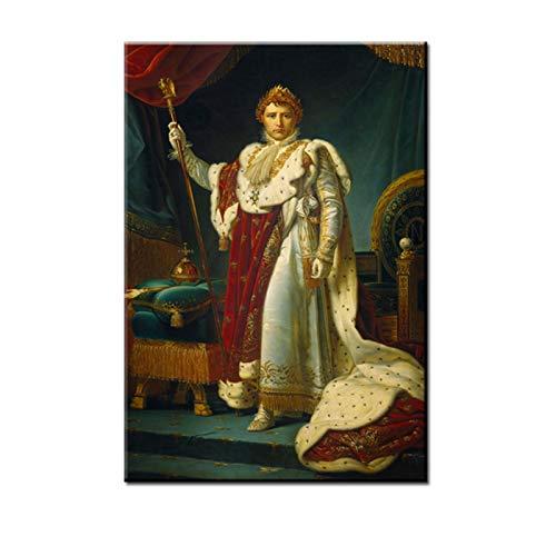 MARYSHARON Famosa pintura retrato del emperador Napolen I en la coronacin disfraz, pinturas artsticas de pared, psteres e impresiones para sala de estar, 15 x 20 cm
