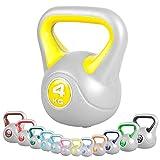 GORILLA SPORTS Kettlebell Stylish 2-20 kg Kunststoff – Fitness-Kugelhantel 4 kg
