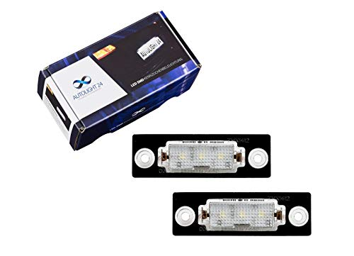2 x Premium LED Kennzeichenbeleuchtung Kennzeichenleuchten KB7 Superb Octavia Caddy Touran T5 Transporter