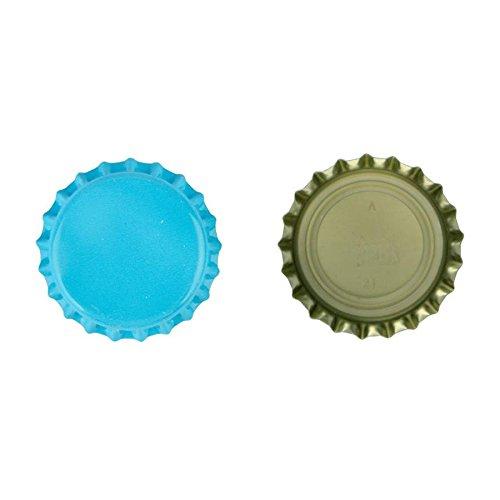 100pieza chapas 26mm sauerstoffabsorbierend Color Azul Claro Corona corcho–Novedad mundial