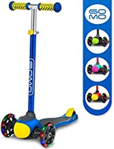 GOMO Kids Scooter 2-5 Years Old Adjustable Height Kick Scooter 3 Wheel Toddler Scooters W/Colors for Boys and Girls