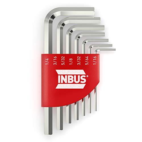 INBUS® 70389 Inbusschlüssel Set (Zoll) 7tlg, 1/16–1/4