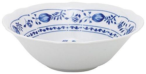 Katie Alice Lot de 4 bols /à c/ér/éales vintage en porcelaine Motif floral Blanc//bleu 15,5 x 8,5 cm