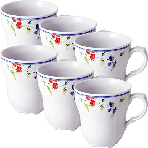 Gepolana Kaffeebecher 6er-Pack Porzellan creme