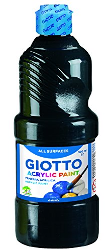 Giotto Peinture Acrylique, 533724, 500 ML, Noir