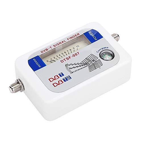 Buscador de señales por satélite, medidor de intensidad de señal DT-007W, medidor de satélite con pantalla LED, detección de satélite, función de control de atenuación