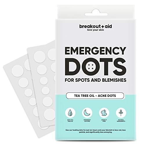 Breakout + aid - Parches para acne y granos (48 Parches) | Vegano | Con aceite de arbol de te | Hidrocoloide para Tratamiento de Espinilla | Natural