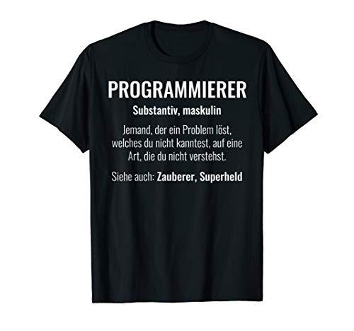Lustiges Programmierer Definition Nerds Geeks Geschenk T-Shirt