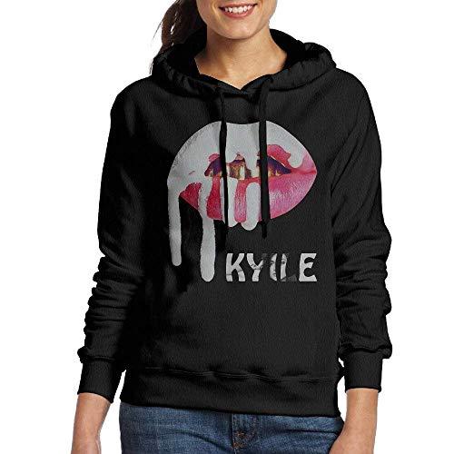 New pants Womens Sportswear Drawstring Hoodie Sweatshirt,Kylie Jenner Black Small