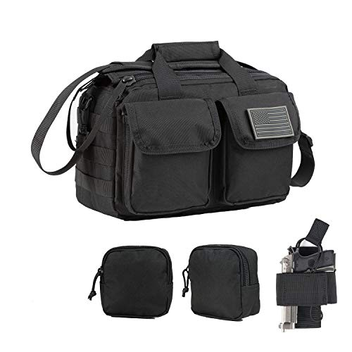 GZ XINXING Gun Range Bag Small Tactical Pistol Shooting Range Duffle Bag (Black)