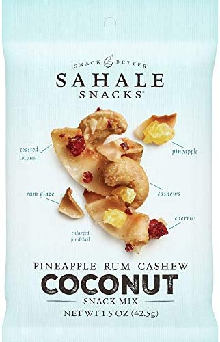 Sahale Snacks Pineapple Rum Cashew Coconut Snack Mix 1 5 Ounces Pack of 18 product image