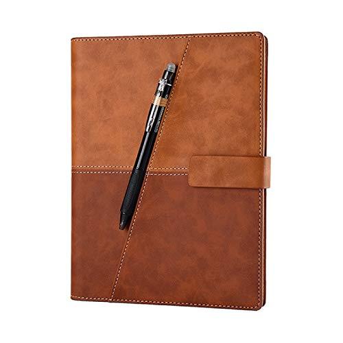 Cuaderno de piel inteligente reutilizable borrable para microondas, ondas de ondas de nubes, bloc de notas con forro con bolígrafo, B