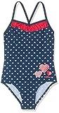Playshoes Baby-Mädchen UV-Schutz Herzchen Badeanzug, Blau (Marine 11), (Herstellergröße 86/92)