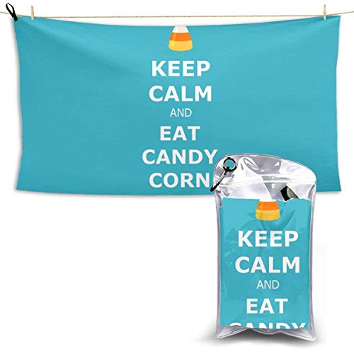 XCNGG Quick Dry Bath Towel, Absorbent Soft Beach Towels, Eat Candy Corn for Camping, Backpacking, Gym, Travelling, Swimming,Yoga 28.7'' X 51''