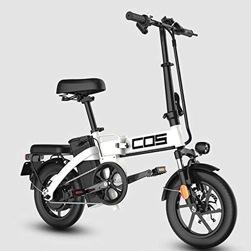 GUOJIN Bicicleta Electrica 14 Pulgadas Plegable 90KM Range Power Assist Bicicleta Eléctrica...
