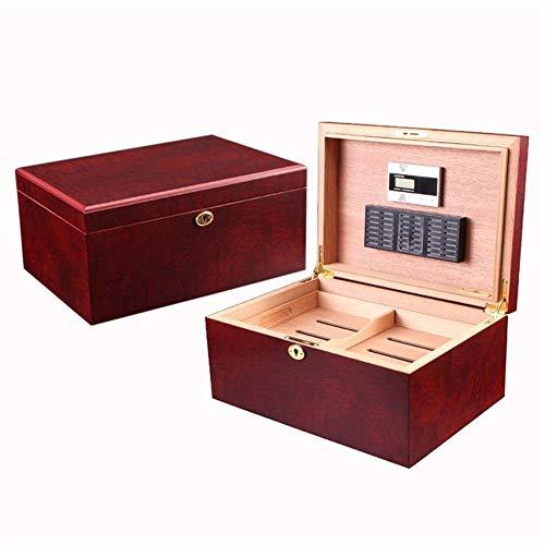 Dljyy Modelos de Manera humidor de Cedro español humidor de Madera Caja de cigarros del hogar Creativo Caja de Almacenamiento