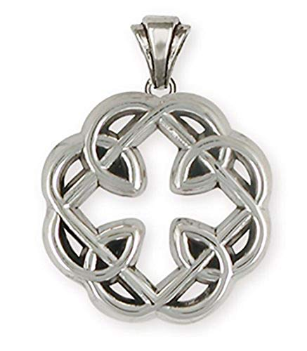 Celtic Knot Father and Daughter Cross Jewelry Sterling Silver Celtic Knot Father and Daughter Cross Pendant Handmade Celtic Jewelry MFC-P
