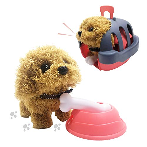 Suniauntie, Electronic Interactive Toy, Electric Plush Toy, Teddy Dog Stuffed Animals with Sound and Movements, Plush Toy Set, Play House Stuff for Kids, Dog Stuffed Animal Plush Toy, Gift for Kids