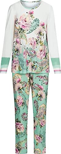 Rösch Damen-Schlafanzug Single-Jersey türkis Größe 50