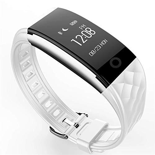 Lbyhning Fitness Trackers, Fitness Tracker Sport Smart Horloge Bluetooth Polsband Hartslag Gezondheid Monitoring Calorie Stappenteller Waterdicht Beste Gift Kleur: wit