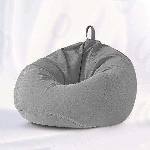 DJFIOSD Bean Bag Gamer Chair, Moderno Ocio Impermeable Resistente Al Agua Sillón Perezoso Sillón Almacenamiento con Asa, Sofá Perezoso Interior Extraíble Y Lavable,Gris