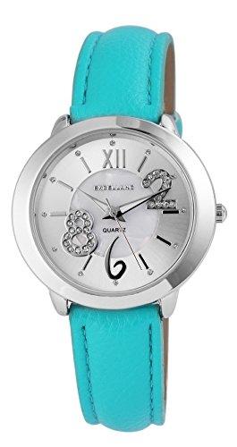 Mujer Reloj De Plata Azul Árabe Números Romanos Reloj de pulsera