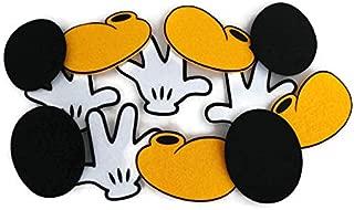 Disney Mickey Mouse Large Felt Die Cut Shapes - 12 Pieces