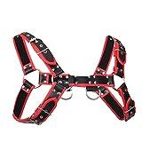 Men's Adjustable Leather Body Chest Harness Belt Shoulder Cage Belt Clubwear Costume