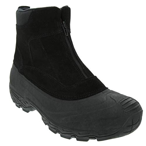 LONDON FOG Mens Holborn Waterproof and Insulated Cold Weather Snow Boot Black 9