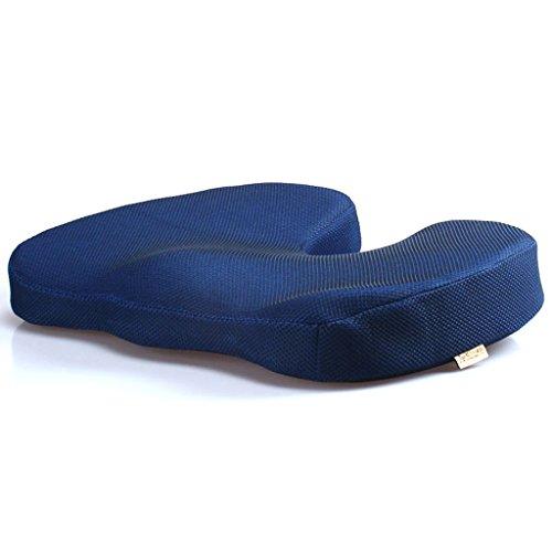 Uus Rembourrage de Chaise de Coussin de Voiture de Mousse de mémoire d'été avec la Couverture Amovible et Bon Pillow (Couleur : Bleu, Taille : Slow-Rebound-Normal)