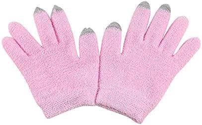 Kiminors 1 Pair Women Fashion Touch Screen Gloves Winter Sport Outdoor Warm Gloves Button Cotton Wrist Gloves Mit