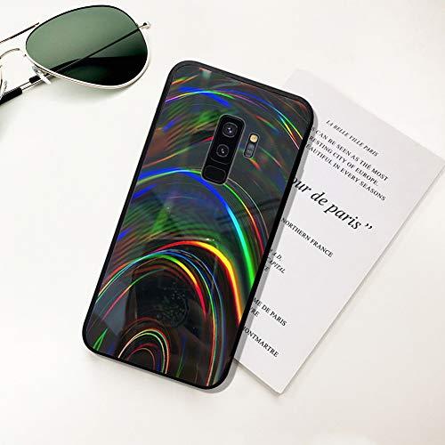 Ysimee Hülle kompatibel mit Samsung Galaxy S9 Plus Handyhülle,[Bunte Serie][Fallschutz, rutschfest], Weiche Silikon Schutzhülle Bumper Case Schutz Stoßfeste Protective Hülle Cover - Schwarz