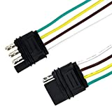 Tirol 4 Pin Flat Trailer Cable Set Trailer Light Plug 418 AWG Wire Harness Connector For Caravan Auto Cables Adapters Sockets