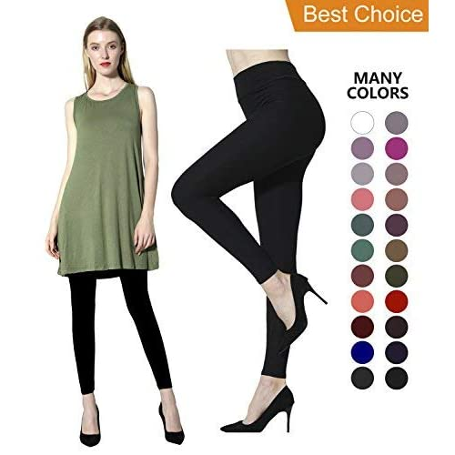 ed120970971ff7 Diravo Leggings for Women,High Waist Leggings,Soft Yoga Pants,Stretch Basic  Leggings
