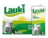 Lauki Leche Entera Pack, 6 x 1L