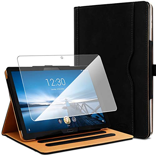 KARYLAX Black Protective Case + 1 Tempered Glass Screen Protector for Lenovo Tab M10 HD 10.1 Inches