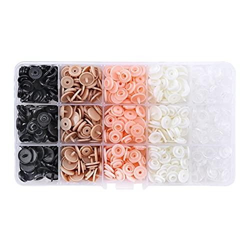 Accesorios de costura T5 Botón de presión de plástico con pinzas SNAPS Juego de herramientas y organizador Contenedores Herramientas para el hogar DIY Prueba de prensa Sujetadores para tela de jersey