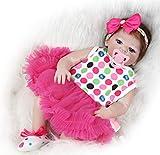 ZIYIUI Reborn Babys Mädchen Lebensechte 20 Zoll/50 cm Reborn Baby Vollsilikon Reborn Toddlers Puppe...