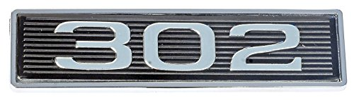 Mustang 302 Classic Hood Scoop Shaker Emblem in Chrome & Black