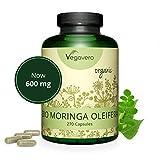 Moringa Oleifera BIO Vegavero | 600 mg | 270 Gélules | Plante Ayurvédique et Adaptogène | Superaliment BIO : Source Naturelle de Protéines, Vitamines et Minéraux | Sans Additifs | Vegan