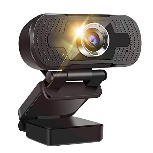 1080P Webcam with Microphone, HD Streaming USB Computer Webcam Adjustable Base [Plug and Play], Video Conferencing/Calling/Gaming/Laptop/Desktop Mac/Skype/YouTube/Zoom/Facetime