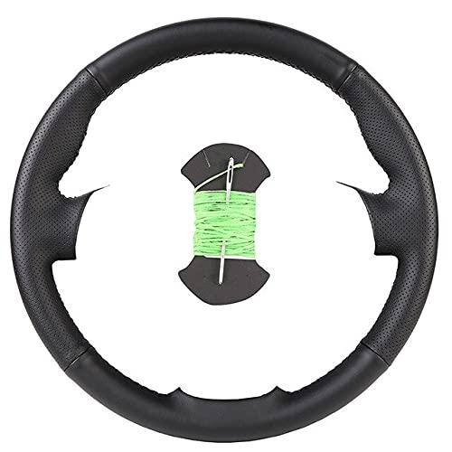 AMLaost Envoltura De Dirección De Cuero Para Automóvil Diy Cubierta De Volante De Automóvil Personalizada Para Kia K5 2016 2017 Sportage 4 Kx5 2016 2017 porcelana verde