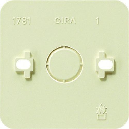 Gira 008113 AP 1fach Montageplatte 1-fach in cremeweiß