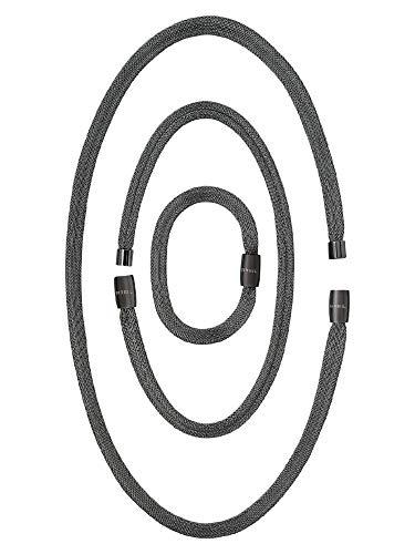 BREIL - Soft Set, Bracciale, Girocollo e Collana Donna Collezione MAGNETICA SYSTEM - 3 Elementi di Diverse Lunghezze Trasformabili in Maglia d'Acciaio IP Black - Abbinabili ad Altri Elementi Magnetica